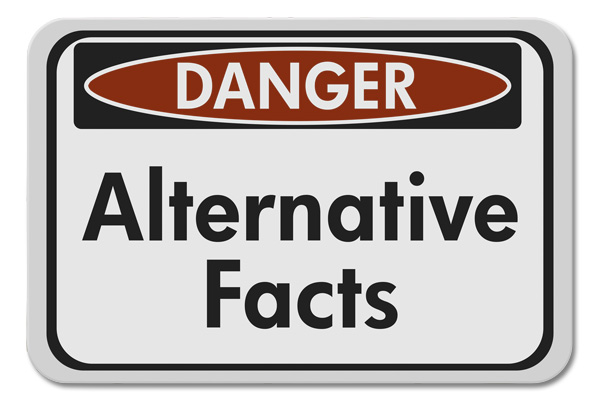 alternative facts sign